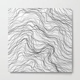 Black veins Metal Print