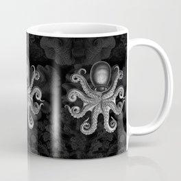 Octopus2 (Black & White, Square) Coffee Mug
