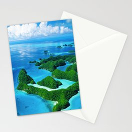 Breathtaking Palau Tropical Islands From the Eyes of Angels Stationery Cards
