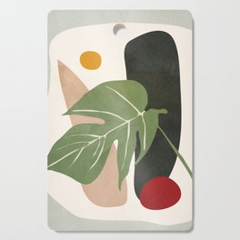 Abstract Monstera Leaf Cutting Board