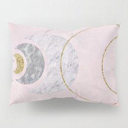 Half Moons Rising Blush Pillow Sham
