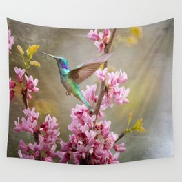 Springtime Hummer Wall Tapestry
