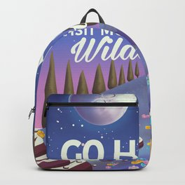 Go Hiking night travel poster Backpack