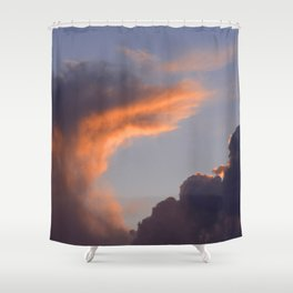 Exotic Cloud At Last Gasp of Sunset Shower Curtain