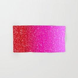 Red/Pink Glitter Gradient Hand & Bath Towel