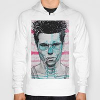 tyler spangler Hoodies featuring Tyler Durden by Bronsolo Illustration