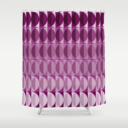 Leaves at midnight - a pattern in aubergine Shower Curtain