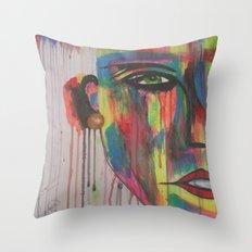 rain art Throw Pillow