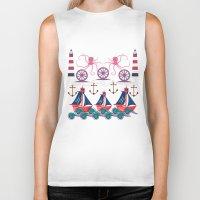 sailor Biker Tanks featuring Sailor by famenxt