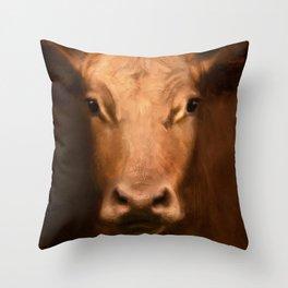 Cow 187 Throw Pillow