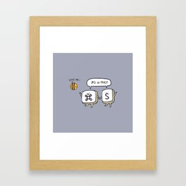 Save the bees jpg Framed Art Print