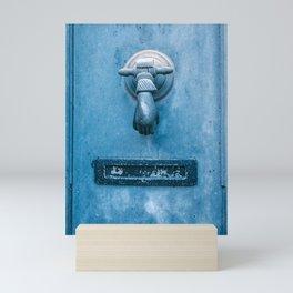 Blue Doorknocker Mini Art Print