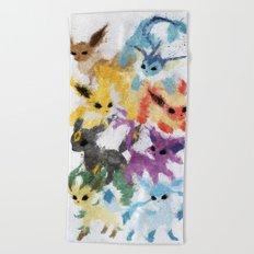 Eeveelutions Beach Towel