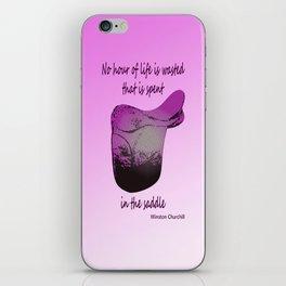 Pink saddle iPhone Skin