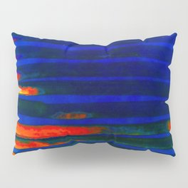 Midnight Blue Lava Lines, Our Earth Burn Marks Pillow Sham