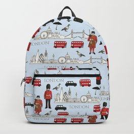 London Skyline and Icons Backpack