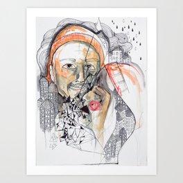 She and Him Art Print