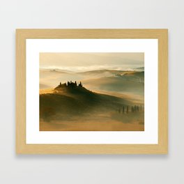 Sunrise in Val D'Orcia Framed Art Print