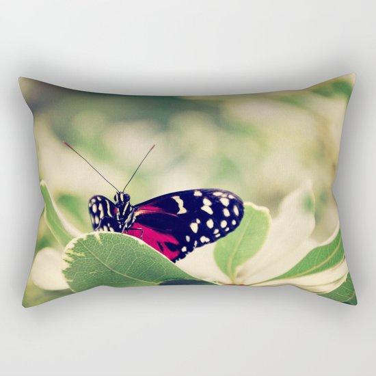 peek a boo butterfly Rectangular Pillow