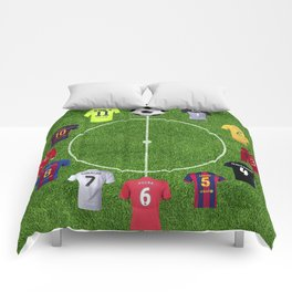 Football soccer best players clock Comforters