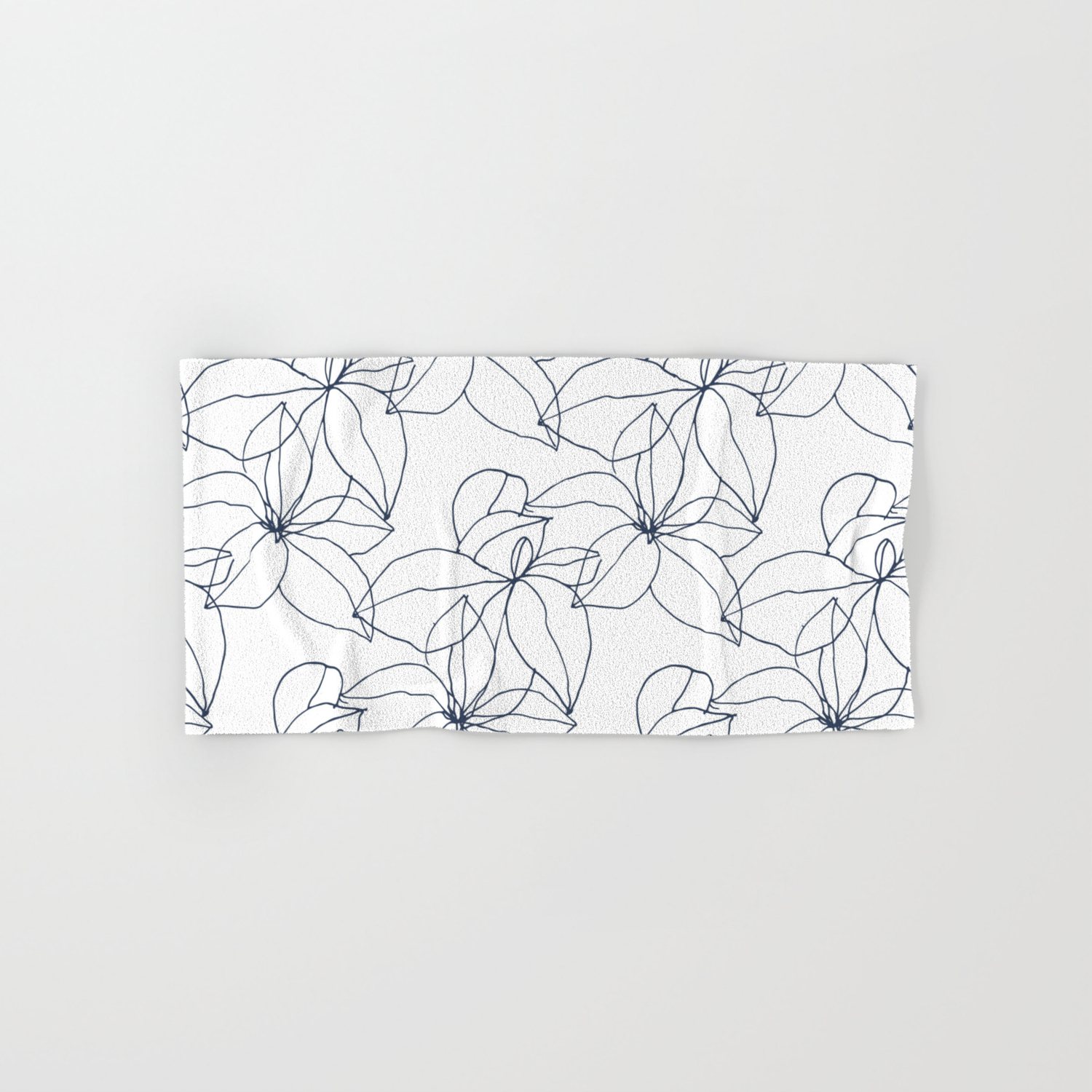 Floral Drawing Overlap Hand Bath Towel By Johnnypattern Society6