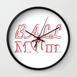 Ball Mom Love Softball Baseball Mother's Day Gifts Wall Clock