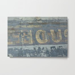 Warehouse District -- Rustic Country Chic Abstract with Letters Metal Print