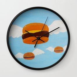 Bob's Flying Burgers Wall Clock