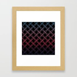 Fences Abstract Ombre Framed Art Print