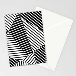 Abstract Striped Triangles Stationery Cards