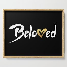 Beloved - White & Gold Serving Tray