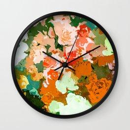 Velvet Floral Wall Clock