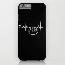 Sloth Heartbeat Lazy Humor Chill Zoo Animal Gift iPhone Case