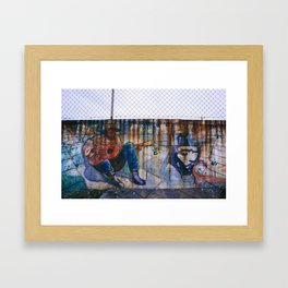 Dripping out me colored rust Framed Art Print