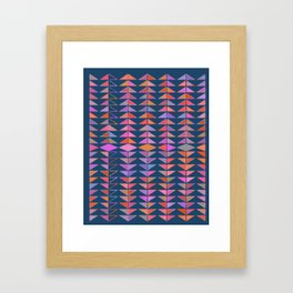 Colorful Triangles Framed Art Print