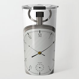 Silver Pocket Watch Travel Mug