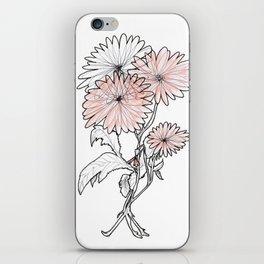 flower illustration iPhone Skin