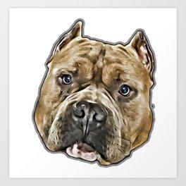 American Bully pitbull dog Art Print