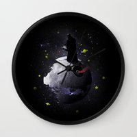 the little prince Wall Clocks featuring The little prince by Fabian Gonzalez
