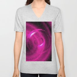Magenta Pink Strangeness Unisex V-Neck