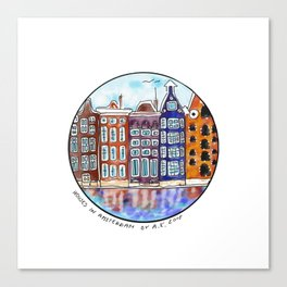 Houses in Amsterdam Canvas Print