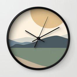Lanscape long road minimal art Wall Clock