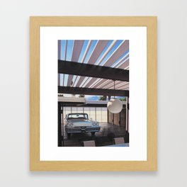 Mercury In Krisel Carport Framed Art Print