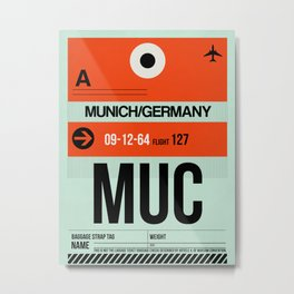 MUC Munich Luggage Tag 2 Metal Print