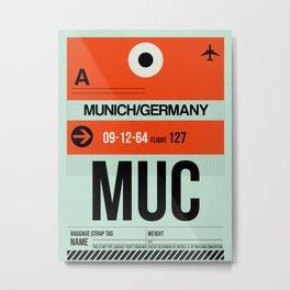 MUC Munich Luggage Tag 2 Metal Print