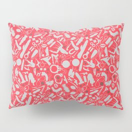 NSFW Red Kinky S&M Pattern Pillow Sham