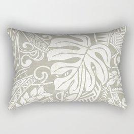 Vintage Organic Samoan Tribal Design Rectangular Pillow