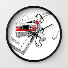 Awesome Mix Vol. 1 and Vol. 2 Wall Clock