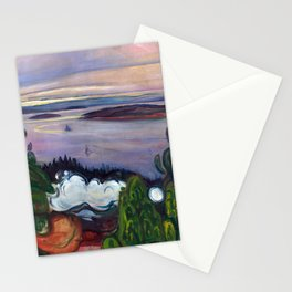 Train Smoke by Edvard Munch Stationery Cards