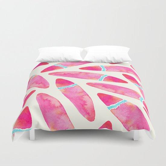 Pink Surf Duvet Cover